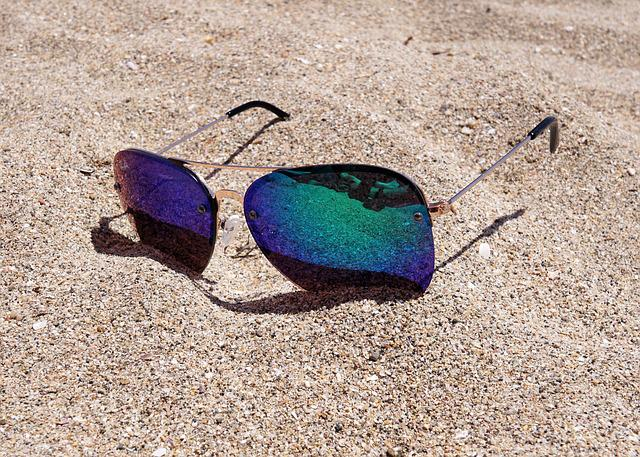 Sunglasses, Sand, Beach, Sun, Holiday, Summer, Sea