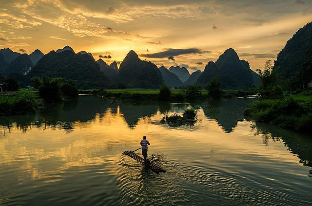 Afternoon, Sun Set, Sun, Fishermen, Fishing, Person