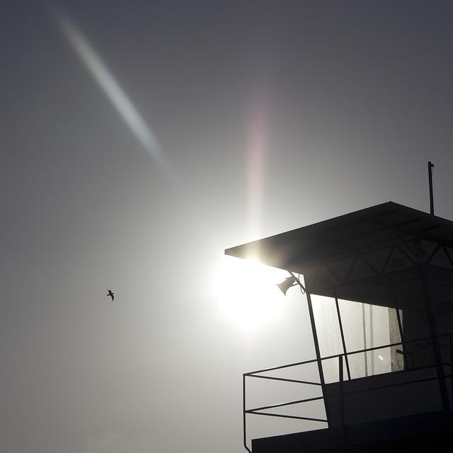 Sun, Beach Guard, Ahlbeck, Sky