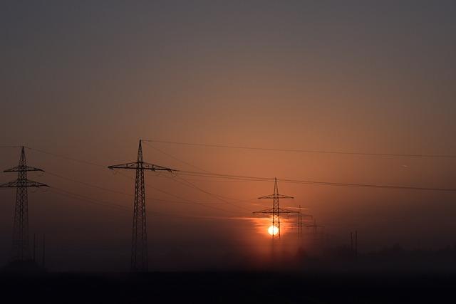 Sunrise, Energy, Sun, Sun And Energy, Power Poles