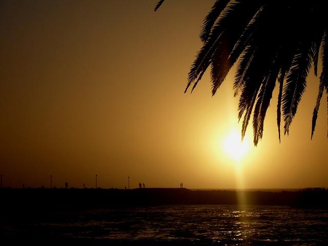 Sun, Setting, Sky Orange, Sun White, Golden Glow