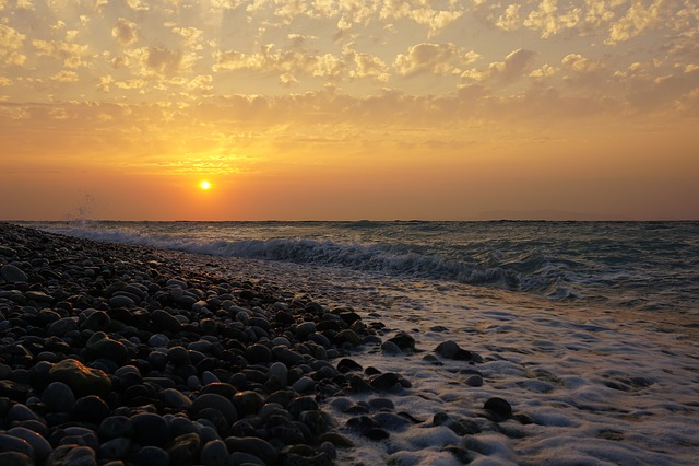 Sunset, Sea, Twilight, Sun, Beach, Coast, Evening