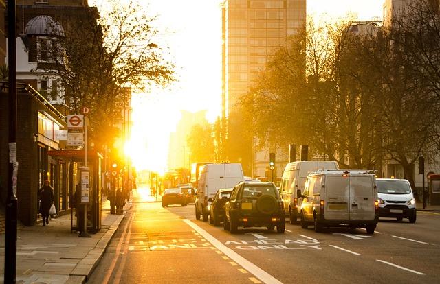 Morning, Golden Sun, Yellow, Sun, City, Urban