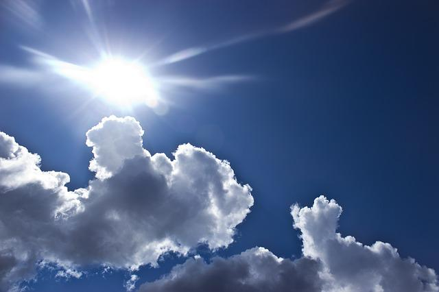 Clouds, Sun, Sky, Blue, Nature, Summer, Weather