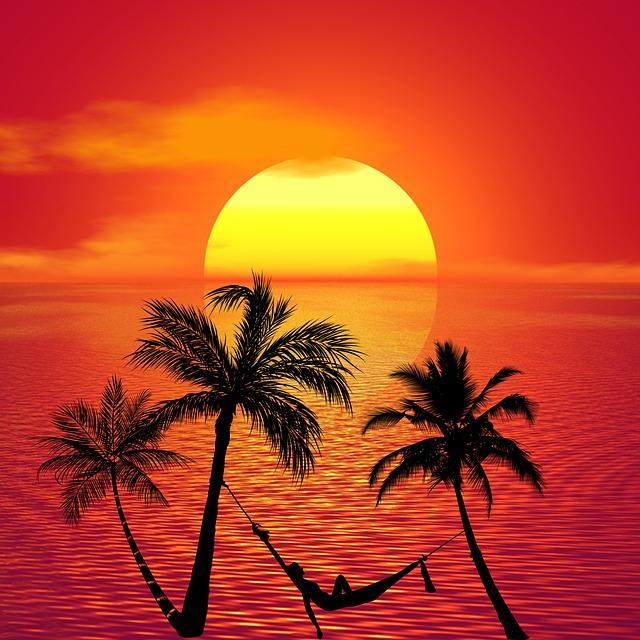 Hammock, Sunbathing, Relax, Beach, Summer, Tropical