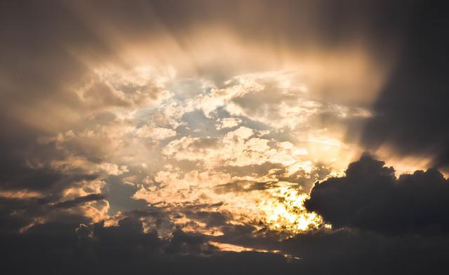 Sky, Clouds, Rays, Sun, Hope, Sunbeam, Revelation