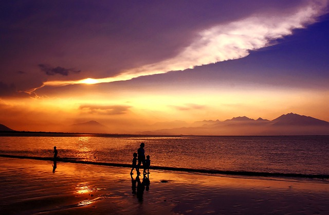 Sunset, Sundown, Da Nang Bay, Danang City, Vietnam