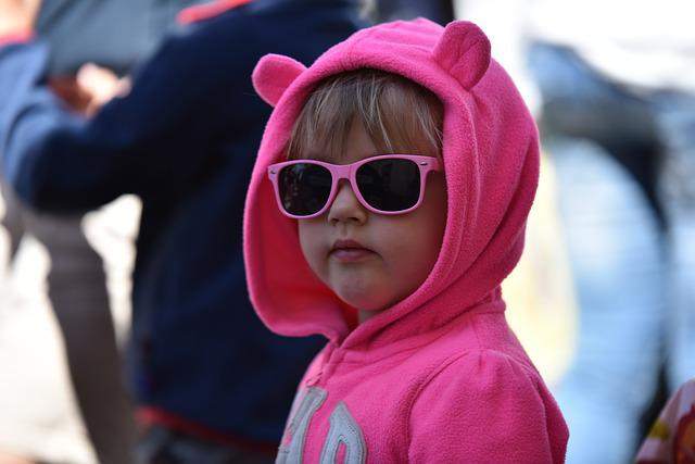 Children, Play, Sunglasses, Masquerade, Ears, Pink