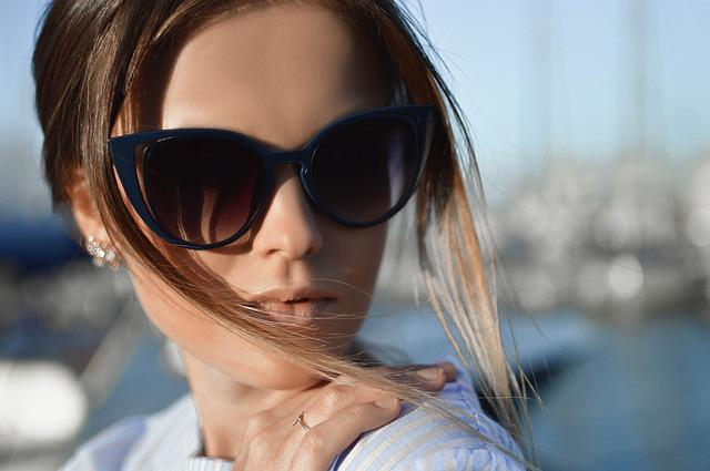 Woman, Face, Sunglasses, Shades, Eyewear, Spectacles