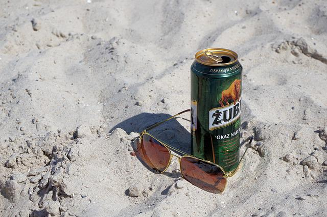 Sunglasses, Beer, Beach, Sand, Summer, Holiday