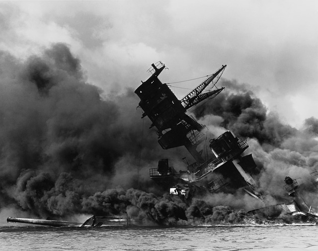 Pearl Harbor, Ship, Warship, Destroyed, Sink, Sunk