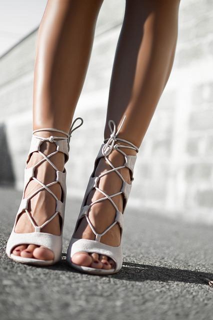 Heel, Shoe, Sandals, Fashion, Legs, Feet, Sunny