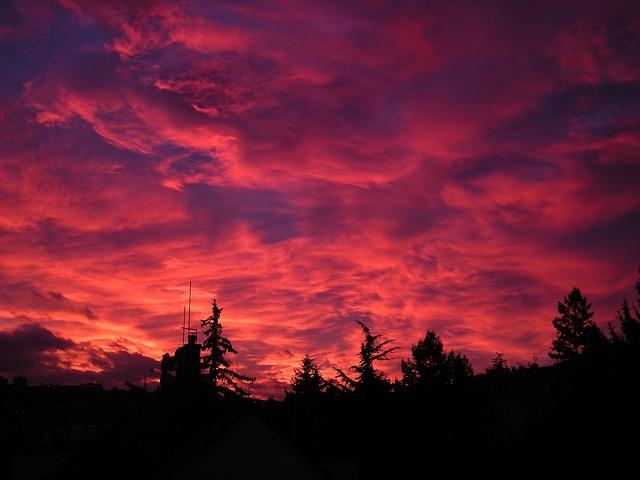 Sunset, Landscapes, Sunrise, Cloud, Sun, Light, Horizon