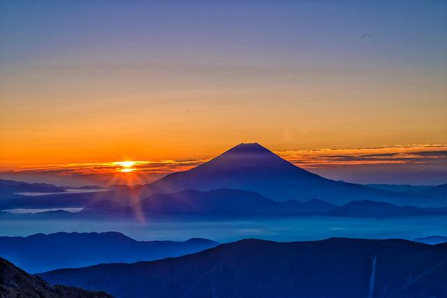 Mt Fuji, Sunrise, Morning Haze
