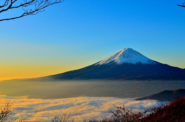 Mt Fuji, Sea Of Clouds, Sunrise