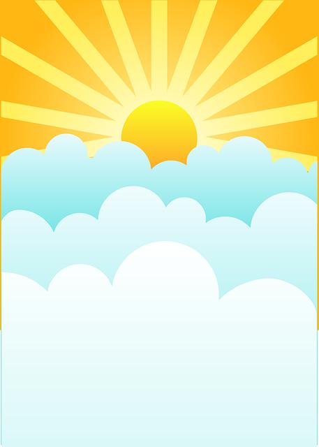 Sunrise, Clouds, Rising Sun, Sky, Sun, Sunset, Heaven