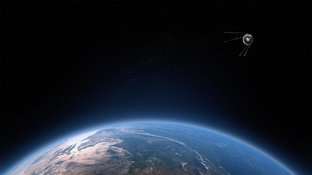 Satellite, Space, Star, Globe, Sunrise, Communication