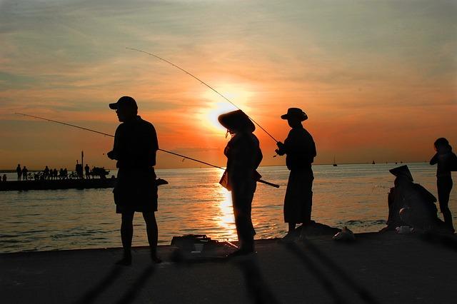 Fishing, Dusk, Dawn, Travel, Sunset, Sunrise, Sea