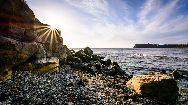 Seascape, Sunrise, Scarborough, North Bay, Yorkshire