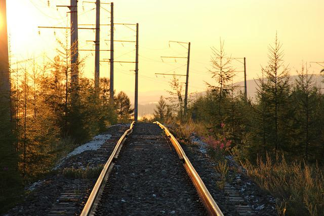 Railway, Sunrise, Road, Siberia, Russia, Very Nice