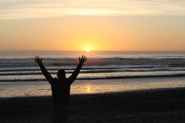 Sunset, Dawn, Dusk, Sun, Water, Sunrise, Worship, Beach