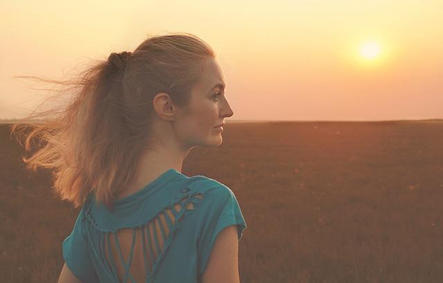 Girl, Sunset, Sunrise, Landscape, Portrait, Sun