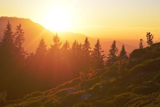 Sunset, Sunrise, Outlook, Afterglow, Warm, Austria