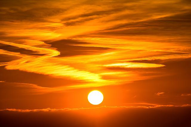 Sun, Sunset, Setting Sun, Abendstimmung, Evening Sky