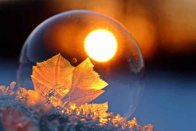 Hardest, Soap Bubble, Eiskristalle, Afterglow, Sunset