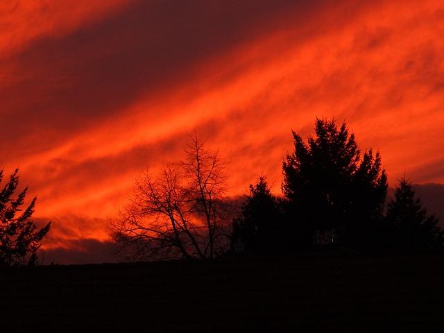Afterglow, Sunset, Evening Sky
