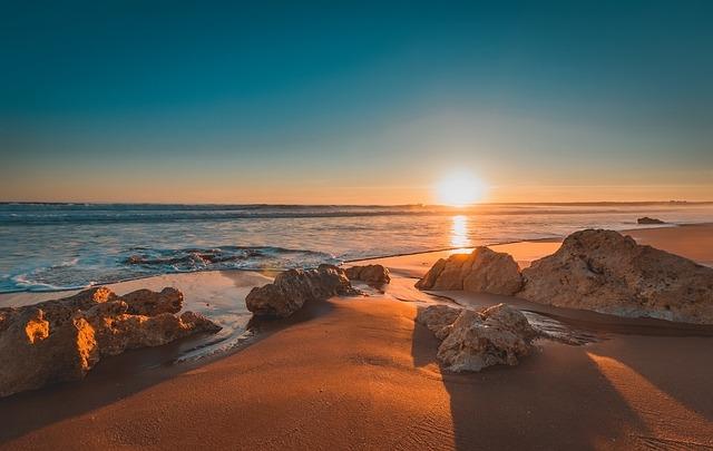 Portugal, Beach, Sunset, Sea, Scenic, Nature, Algarve