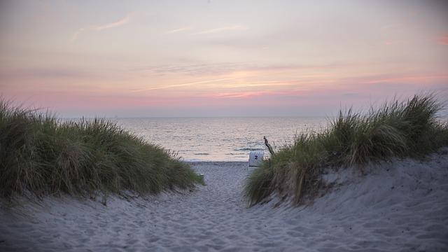Baltic Sea, Beach, Sunset, Beach Chair, Dune