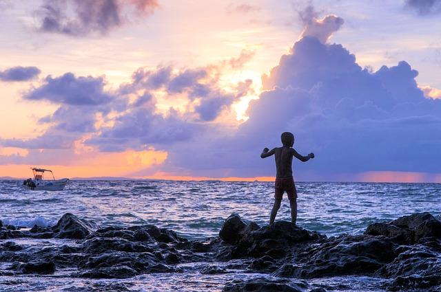 Beach, Sunset, Sea, Madagascar