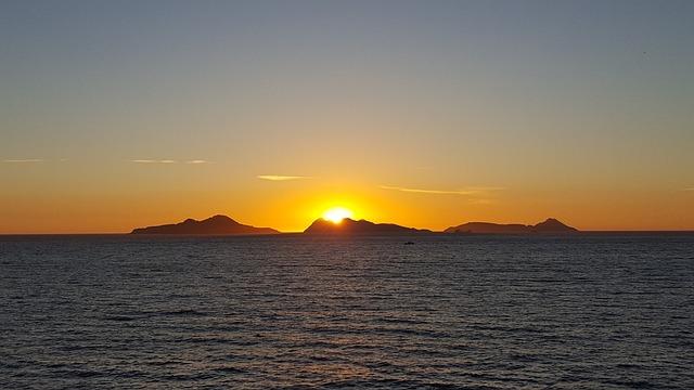 Sunset, Sky, Landscape, Red Sun, Red, Beach