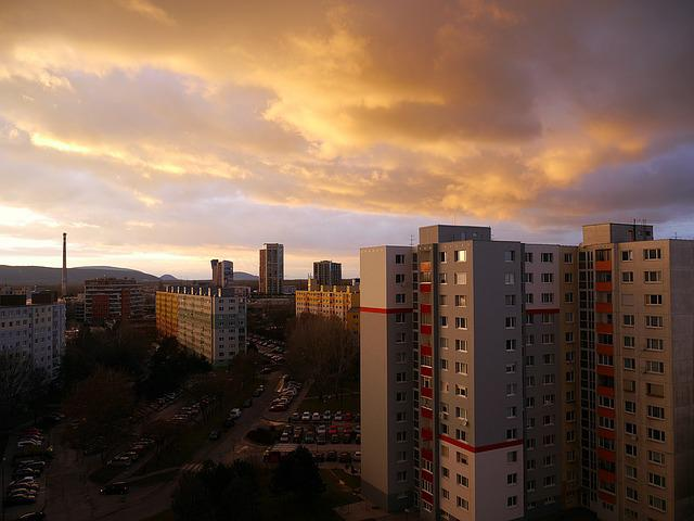 City, The Clouds, The Sky, Bratislava, Slovakia, Sunset