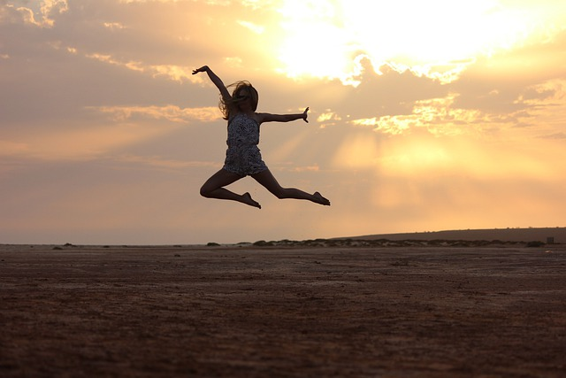 Cape Verde, Beach, Sunset, In The Evening, Dance, Jump