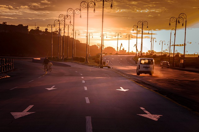Sunset, Roads, Traffic, Cars, Vehicles, Street