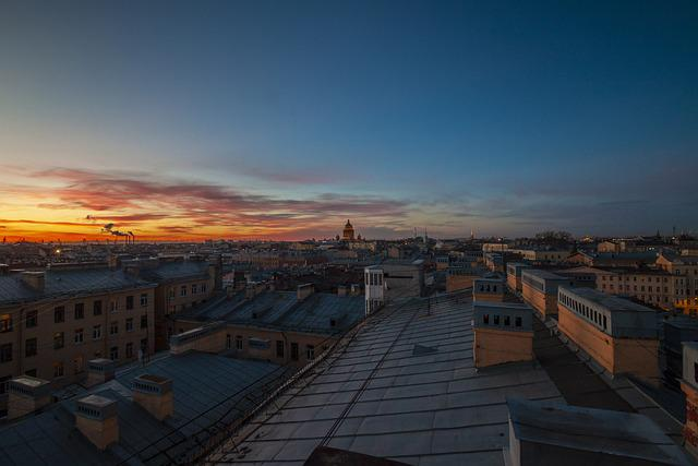 City, Sky, Sunset, Russia, Street, Architecture, Peter