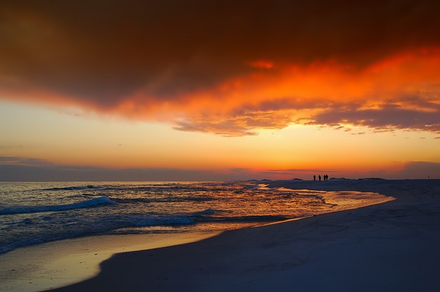 Florida, Sunset, Sky, Clouds, Sea, Ocean, Water
