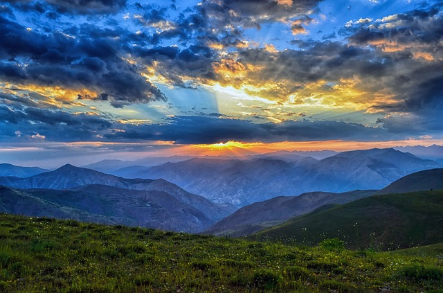 Sunset, Dawn, Nature, Mountain, Landscape, Kaçkars