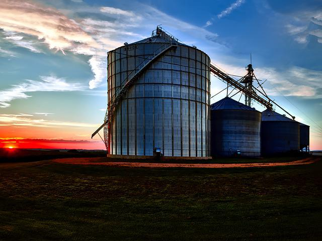 Iowa, Farm, Sunset, Dusk, Evening, Sky, Clouds