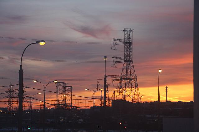 Energy, Industry, Sunset, Sky, Pollution, Electricity
