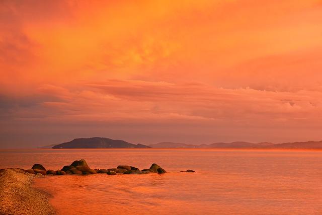 Sunset, Dusk, Waters, Evening, Twilight, Nature, Sea