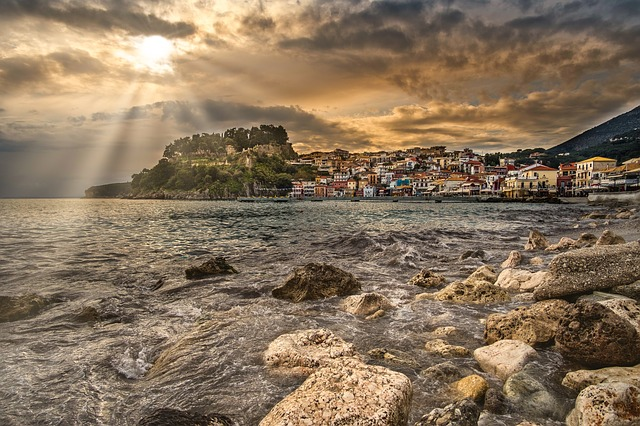 Parga, Fishing Village, Sunset, Afternoon, Beach