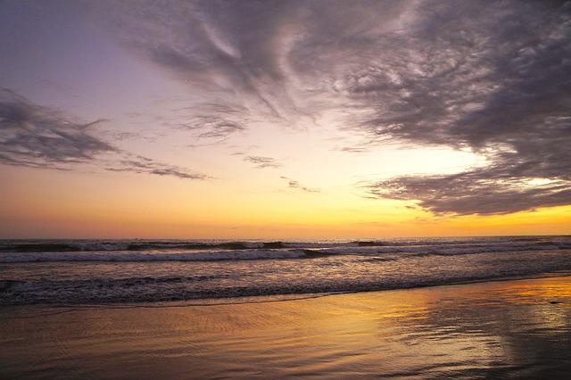 El Salvador, Beach, Freedom, Ocean, Sunset, Holiday