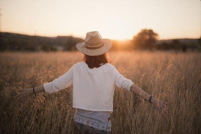 Sunset, Woman, Freedom, Silhouette, Twilight, Sky