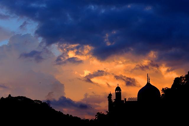 Sunset, Landscape, Silhouette, Gampola, Sky, Clouds