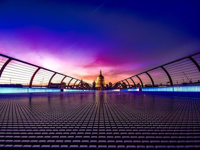 London, England, Great Britain, Sunset, Sky, Clouds