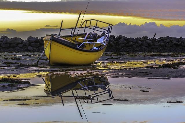 Boat, Sunset, Guernsey