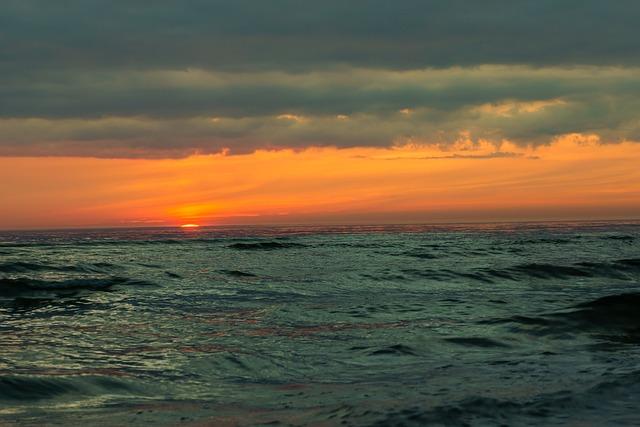 Sunset, Baltic, Sea, Sky, Horizon, Clouds, Journey